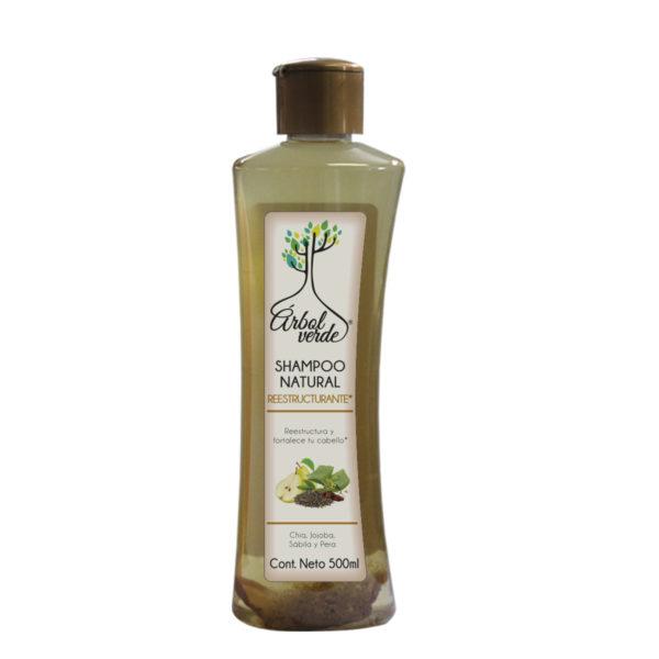 Shampoo Natural Reestructurante Árbol Verde 500 ml.