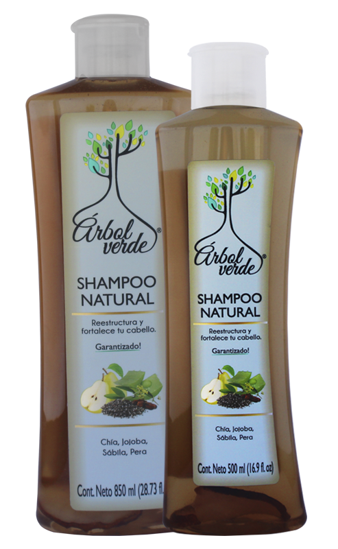 Shampoo natural Reestructurante Árbol Verde
