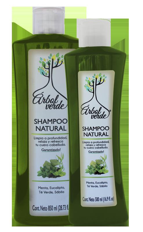 Shampoo natural Refrescante Árbol Verde